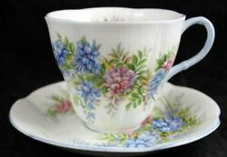Royal Albert Blossom Time Series Wisteria Demitasse Cup And Saucer Great Condition