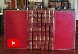 England Architecture Castles Ruins Country Side 1815-17 Set 6 Leather Books