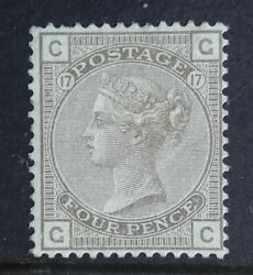 Sg154 4d Grey-brown Plate 17 Surface Printed Stamp - Position Gc Mint Condition