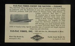 1957 Advertising Flo-pac Fibres And Gutter Broom Wire Flour City Minneapolis Mn