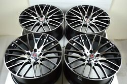 4 New DDR Zuki 18x8 5x114.3 40mm Black Machined 18