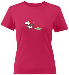 Snoopy Woodstock Winter Holiday Women Juniors Tee T-Shirt Funny Gift Christmas