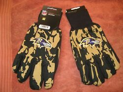 Two Pair Of Baltimore Ravens Sport Utility Gloves From Forever Collectables