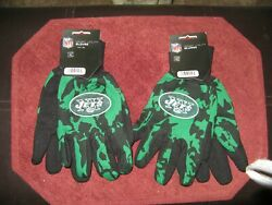 Two Pair Of New York Jets Sport Utility Gloves From Forever Collectables