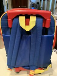 """Vintage 2003 Thomas The Train 16"""" Backpack On Wheels Or Overnight $12.00"""