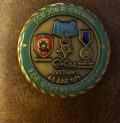 Jon R. Cavaiani Army Vietnam Delta Force Medal Of Honor Challenge Coin