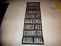 NY NYC SUBWAY ROLL SIGN JAMAICA PARSONS BLVD QUEENS FOREST HILLS COURT BORO HALL
