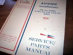 Factory Wiring Service/parts Book 1974 C-177rg 182 206 210 337