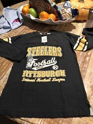 NFL Team Apparel -NWT Youth Small CH 8 Steelers Football Since 1933 Official Top
