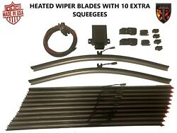 2 - 18 Heated Silicone Winter Wiper Blades + 10 Squeegees Thermalblade G3 Fleet