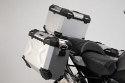 Sw Motech Trax Adv Panniers And Top Box Kit - Silver - Bmw R1250gs / Adventure