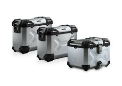 Sw Motech Trax Adv Panniers And Top Box Kit - Silver - Ktm 790 Adventure