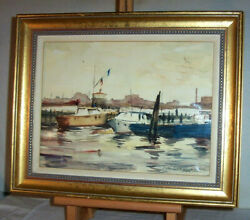 Gloucester Cape Ann Massachusetts Watercolor Painting Signed Ruth Richards