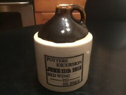 Red Wing To St. Paul Excursion Jug 1915-repo By Falconer Artists In The Park Mn