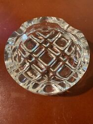Orrefors Of Sweden Crystal Cigar Ashtray Mid Century W/box Olle Alberius