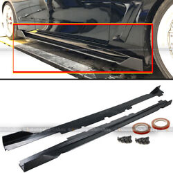 For 17-19 Infiniti Q60 2dr Coupe Polyurethane Jdm Vip Style Side Skirts Spoiler