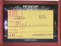 Zeppo Marx Brothers Certified Autograph Auto Card Groucho And Harpo Pop Century