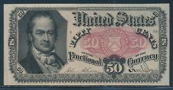 Fr1381 Var 5th Issue 50c Fractional Currency Partial On Reverse Bv305