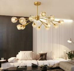 Vintage Branches Crystal Chandelier Luxury Brass Ceiling Light Lamp