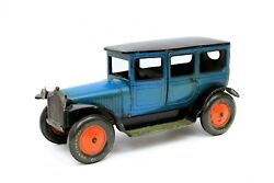 Vintage Gbn Bing Chauffeured Limousine Tin Wind-up Blue Large 15 Long