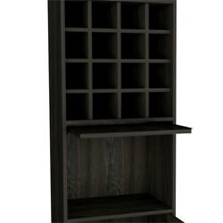 Kava Home Bar and Wine Cabinet in Espresso Carbon