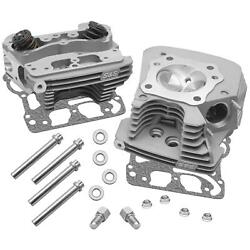 S And S Cycle Super Stock 79cc And 89cc Cylinder Heads For Engines Silver