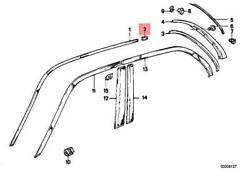 Genuine Bmw M3 E30 316 316i 318i 318is 320i Moulding Joint Right 51131953068
