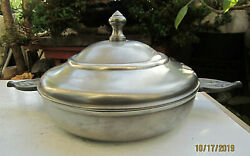 Vintage Collectible French Etain Titre Legal Pewter Tureen Bowl Dish And Lid Mib