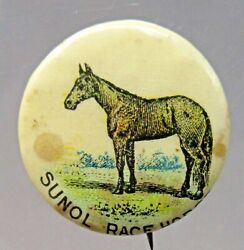 1890and039s Sunol Race Horse Pepsin Gum 7/8 Pinback Button A3