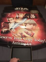 Star Wars Episode 1 Phantom Menace Dvd Large Store Display Poster Disney Fox