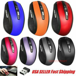 2.4ghz Wireless Optical Mouse Mice And Usb Receiver For Pc Laptop Computer Dpi Usa