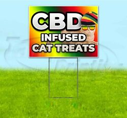 Cbd Infused Cat Treats 18x24 Yard Sign With Stake Corrugated Bandit Pets Dogs