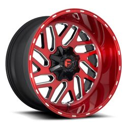 Fuel Triton D691 Rim 22x12 8x180 Offset -43 Brushed Candy Red Quantity Of 1