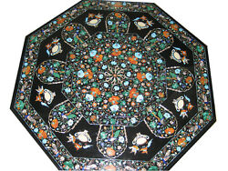 36 Marble Table Top Semi Precious Stones Inlay Work For Home Decor And Garden