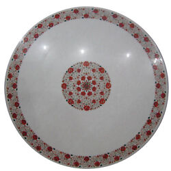 48 Semi Precious Stones Center Dining Marble Carnelian Floral Inlay Table Top