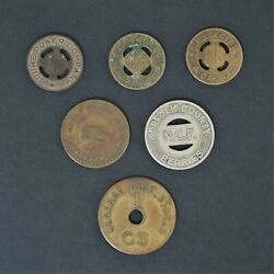 Power Company Transit Fare Tokens Lydia Mills General Dept. Store Good 5c A1634