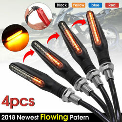 4x Motorcycle LED Turn Signal Lamp Sequential Flowing Indicator Light Amber US