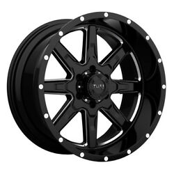 Tuff T15 20x10 8x180 Offset -19 Gloss Black With Milled Spokes Quantity Of 4