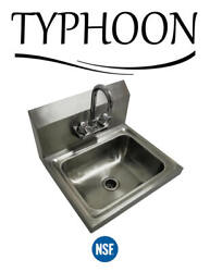 17-5/16 Wall Mount Hand Wash Sink Nsf Commercial Restaurant Stainless Steel
