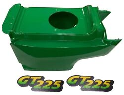 New Lower Hood And Set Of 2 Decals Replaces Am132688 M126055 Fits John Deere Gt225