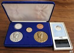 Ronald Reagan 1981 5 Piece Presidential Oim Set With 14k Gold Medal 198/500