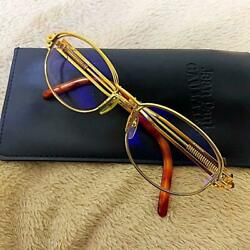 Rare Vintage Jean Paul Gaultier Sunglass Eyeglass Gold Flame Pre-owned wCase