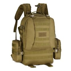 50l Backpack Military Tactical Molle Rucksack Gear Assault Bags Molle Side Pouch