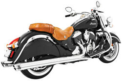 Freedom Exhaust 4in. Slip-ons Chrome/chrome End Caps Indian Chief In00025