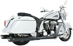 Freedom Exhaust System Dual W/ 4in. Racing Muffler Black Indian Chief In00002