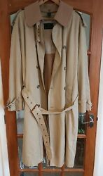 Mens Abercrombie And Fitcg Trench Coat Mac Jacket Tan Camel Beige Sz 44