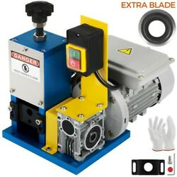 Vevor Electric Wire Stripping Machine Powered 1/4hp Cable Stripper W/extra Blade