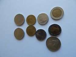 Italia Coins--lot/9 Different Value And Time.