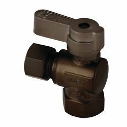 Kingston Brass Kf3310orb 3/8 Fip X 3/8 Od Comp Angle Stop Valve With Lever Ha...
