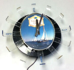 Goetz Country Club Beer Sign Lighted Wall Clock Finger Light Arms Vintage Bar P9